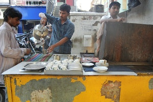 Tea cart in Ahmedabad - Gujarat, India
