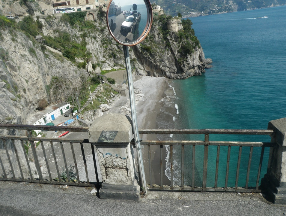Stunning Sketchy Ride Along the Amalfi Coast Amalfi  Italy