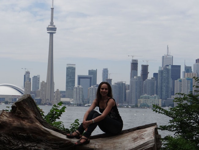 Having a great time at the Toronto Islands, Canada