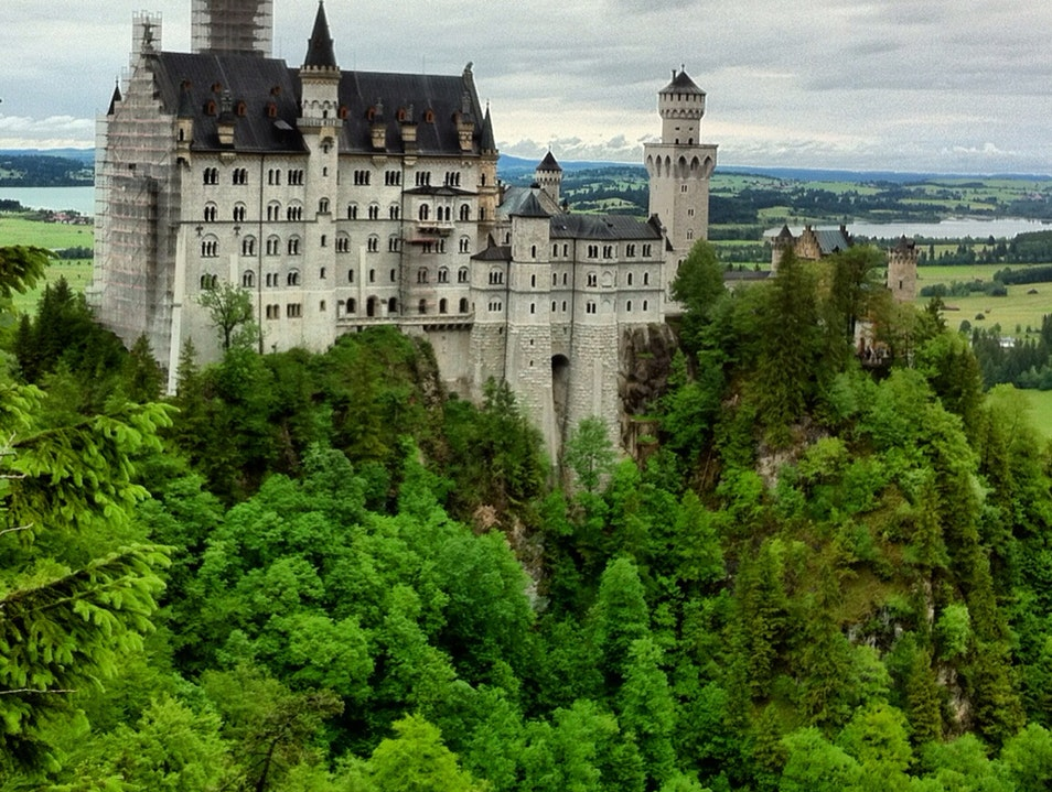 A Scaffolded Fairytale Schwangau  Germany