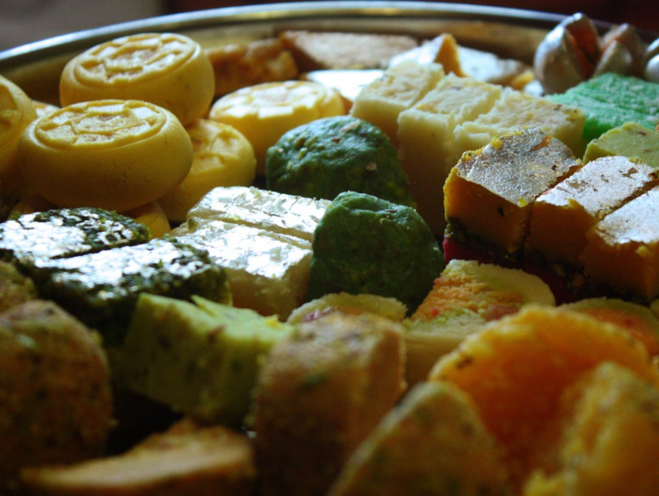 North Indian and Bengali Sweets at Nathu's New Delhi  India