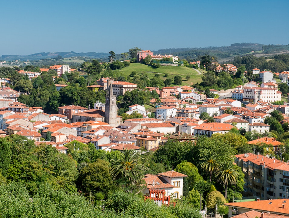 Count the Pink Tiles, Comillas, Contabria, Spain.