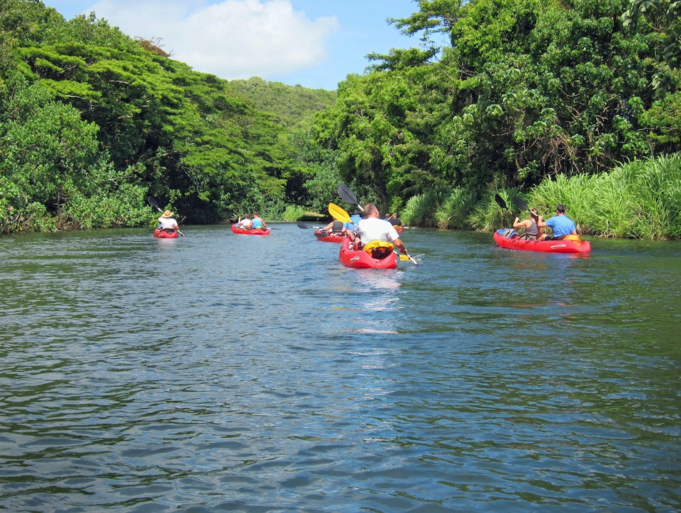 Kayaking Down the Hule'ia River