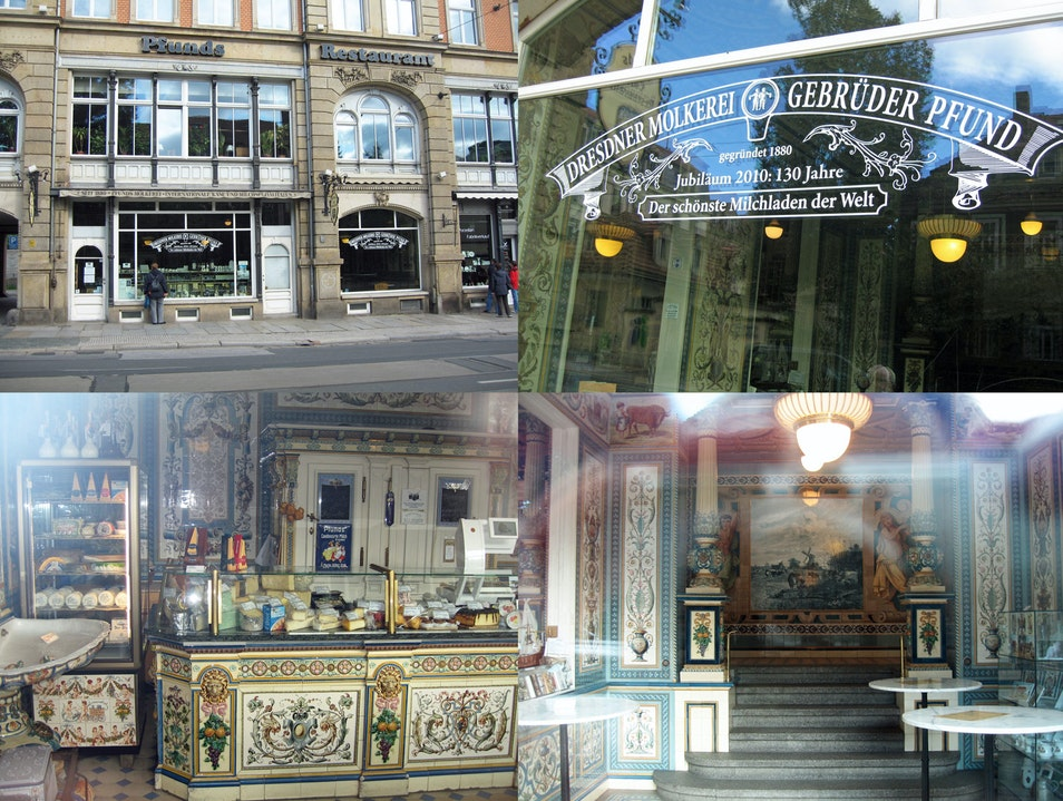 Pfund's Dresdner Molkerei - The Most Beautiful Milk Store in the World Dresden  Germany