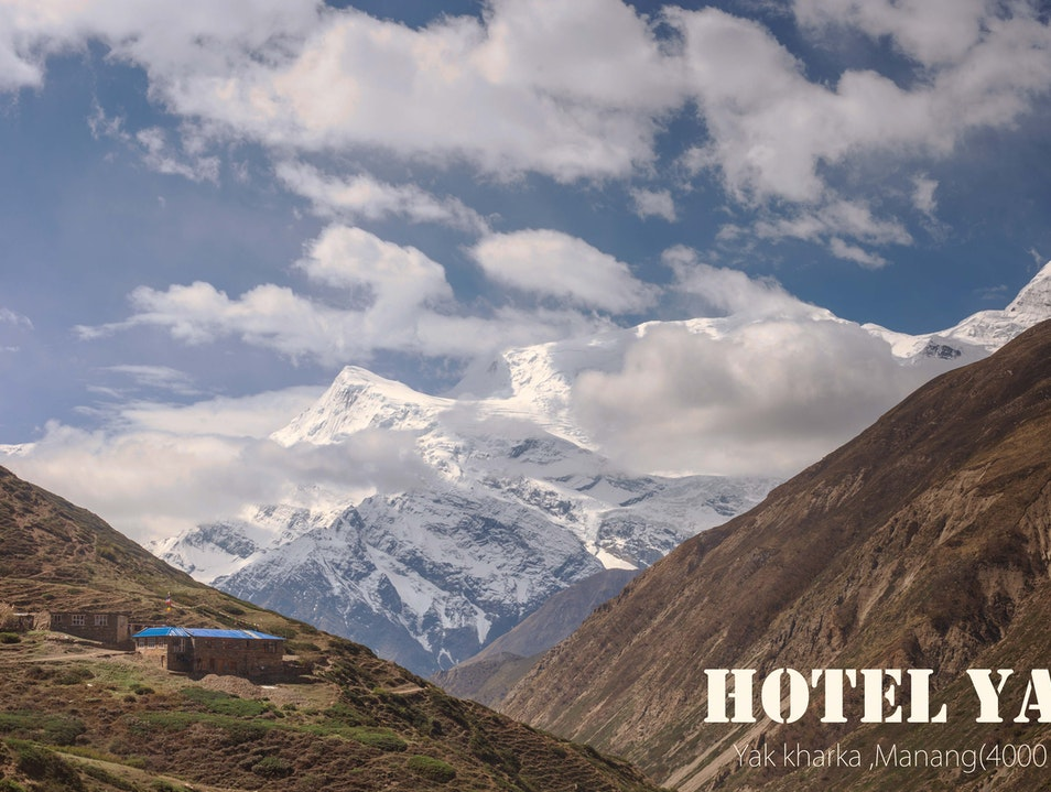 Beautiful Hotel at Yak kharka Tanki Manang  Nepal