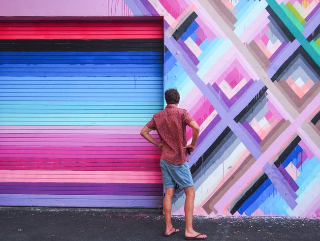 Exploring the walls of Wynwood.