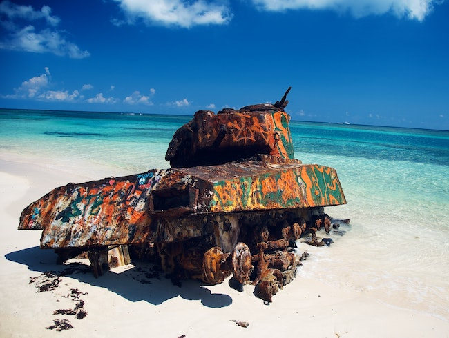 The Most Beautiful Demilitarized Beach in the Caribbean