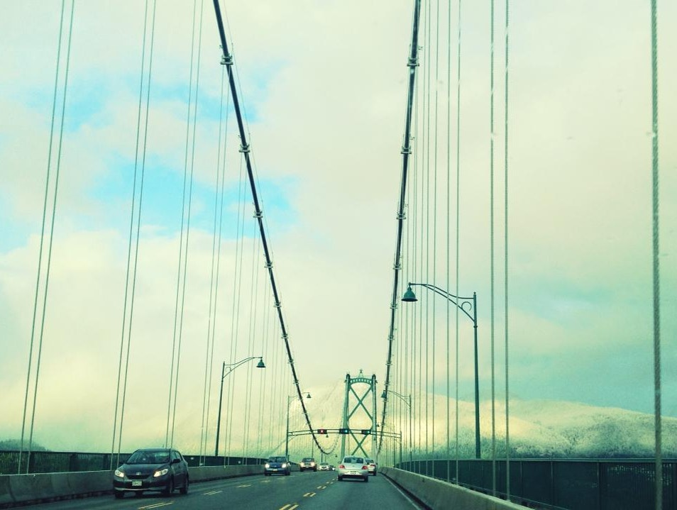 Trip Over The Lions Gate Bridge Vancouver  Canada