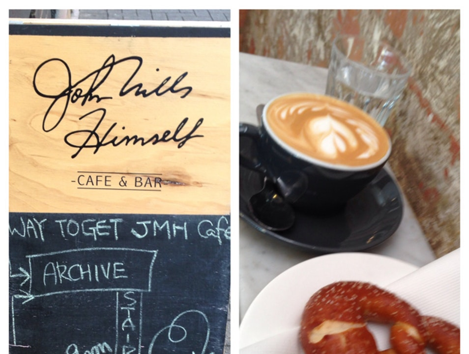 Hidden little coffee bar with superb service, history & pastries