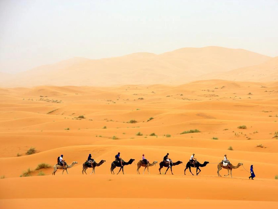 Morocco Excursions, Camel Trekking Fes to Marrakech, Merzouga camel ride and night in desert