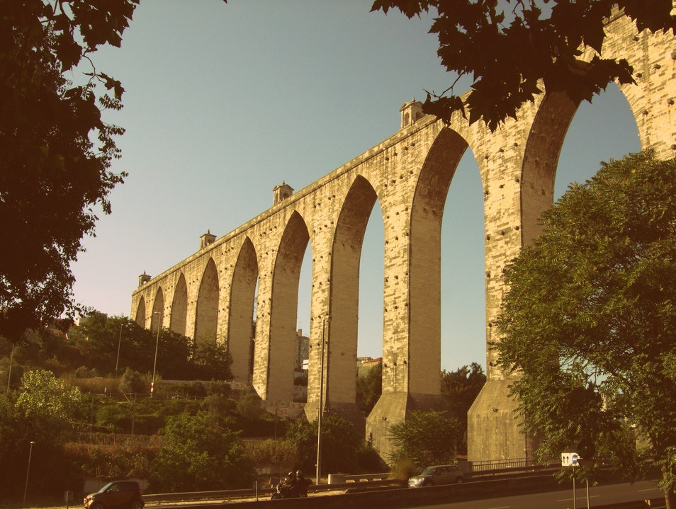 The aqueduct that brought water to Lisbon