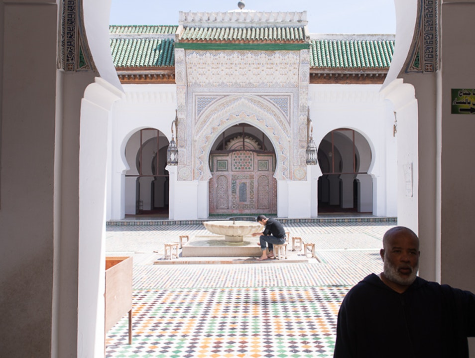 University of al-Qarawiyyin | A Special Peak Through the Large Gate Fes  Morocco