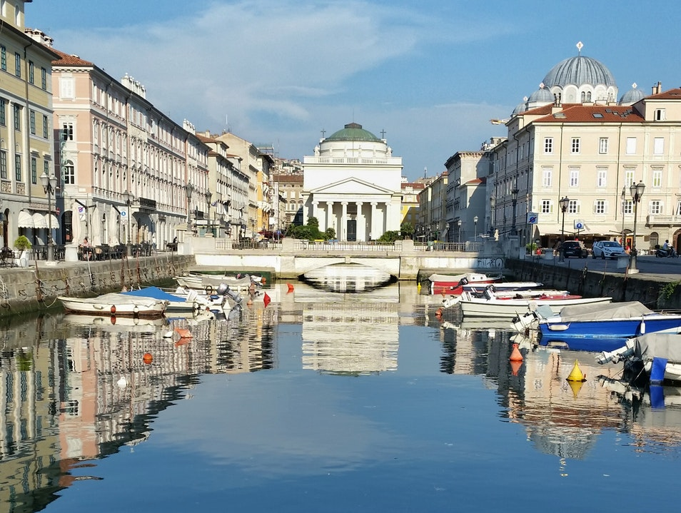Lovely Canal Right in the Middle of Trieste Trieste  Italy
