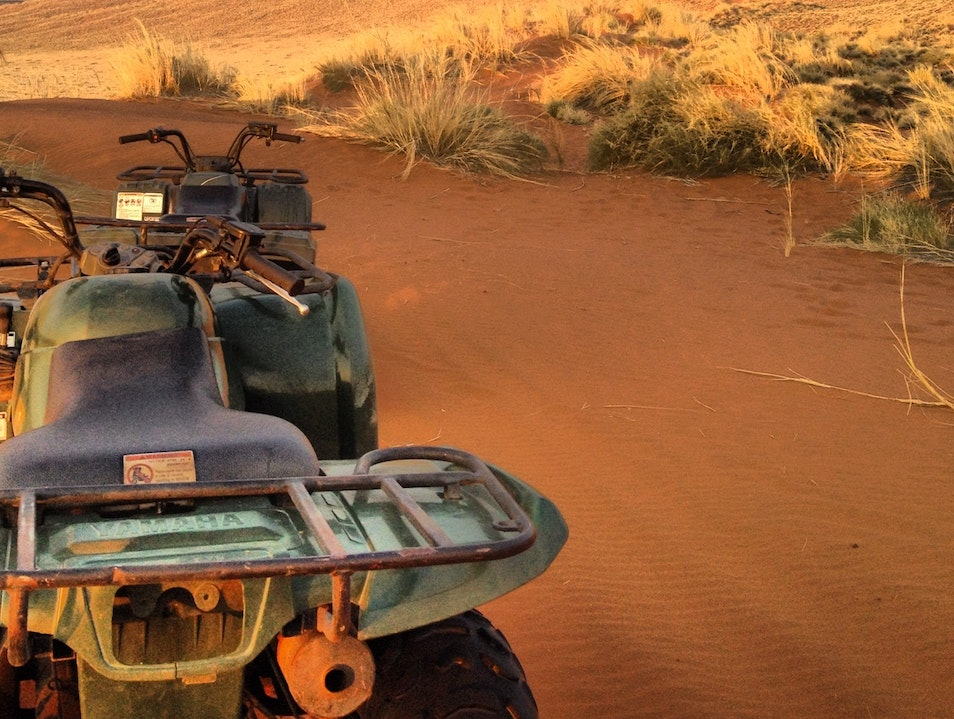 ATV into the dunes...guided of course Sesriem  Namibia