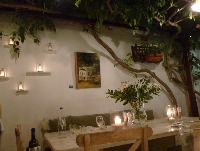 Dine under the Trees in Mykonos