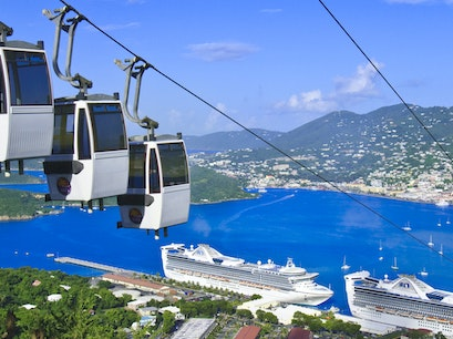 Paradise Point Tramway Southside  United States Virgin Islands