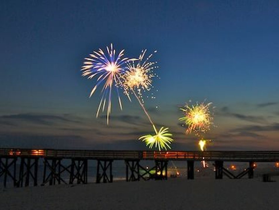 Celebrating New Year's Eve Twice in One Night! Port St. Joe Florida United States