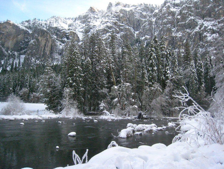 Frozen Paradise in November Yosemite National Park California United States