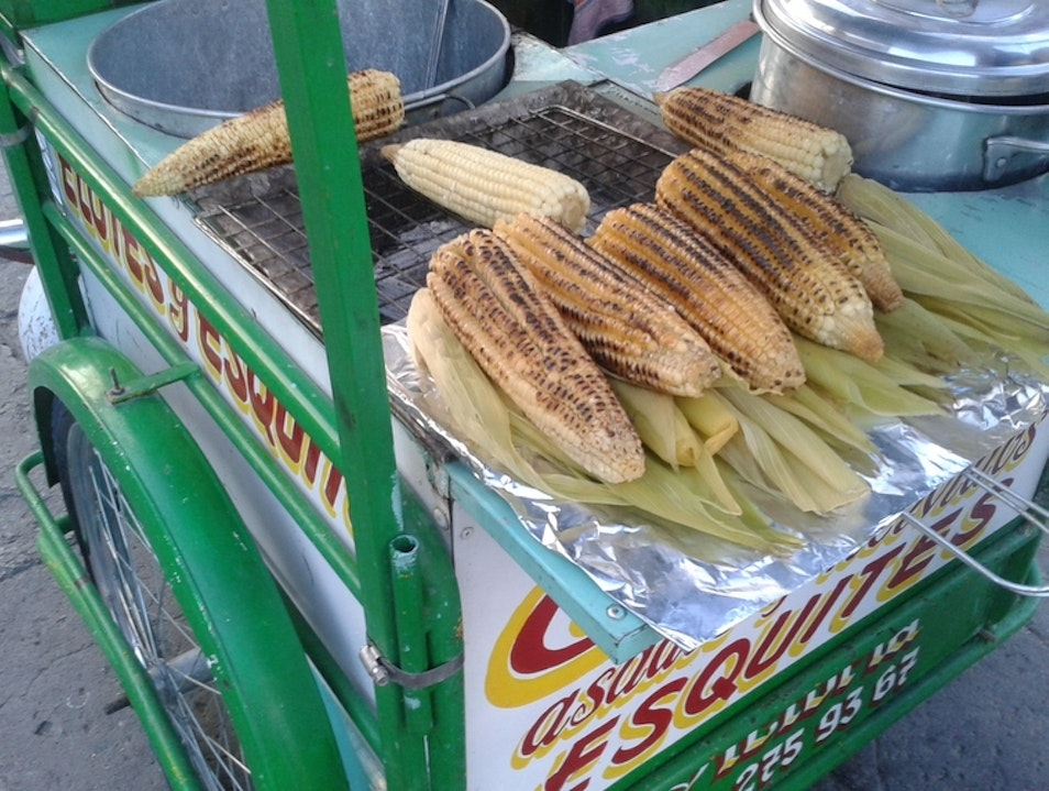 Mexican-Style Corn on the Cob Oaxaca  Mexico