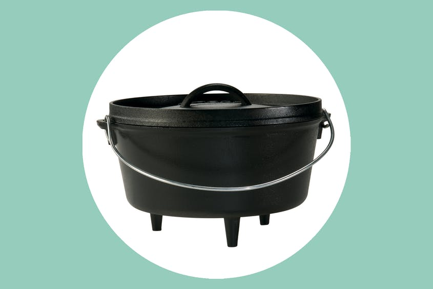The Camp Dutch Oven by Lodge helps you get creative with your camp meals.