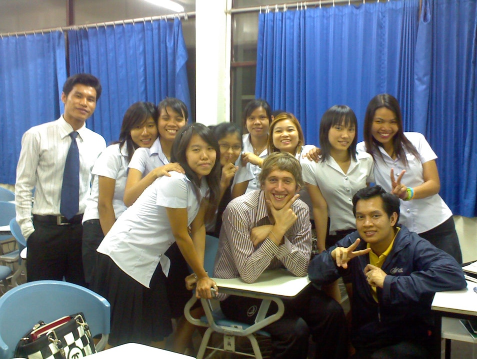 Teaching at Bangkok University. Bangkok  Thailand