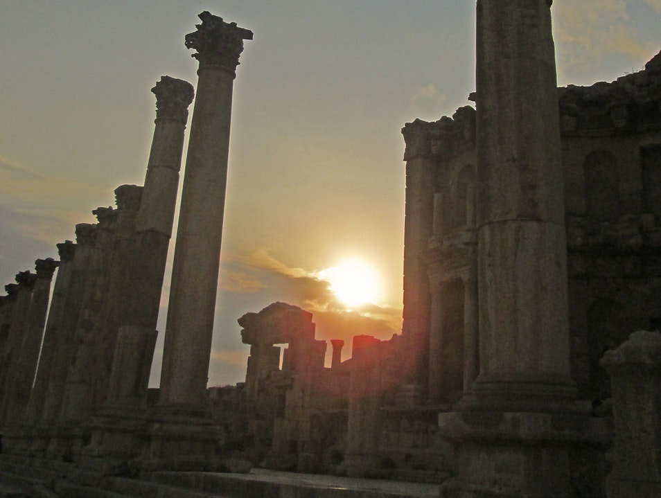 Magnificent Jerash at Sunset Jerash  Jordan