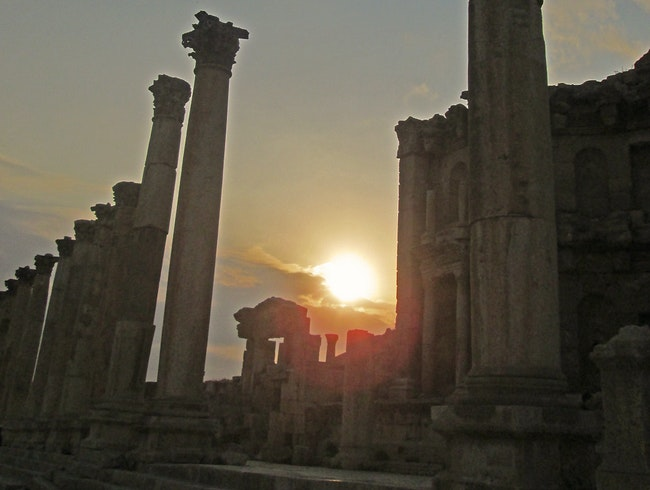 Magnificent Jerash at Sunset