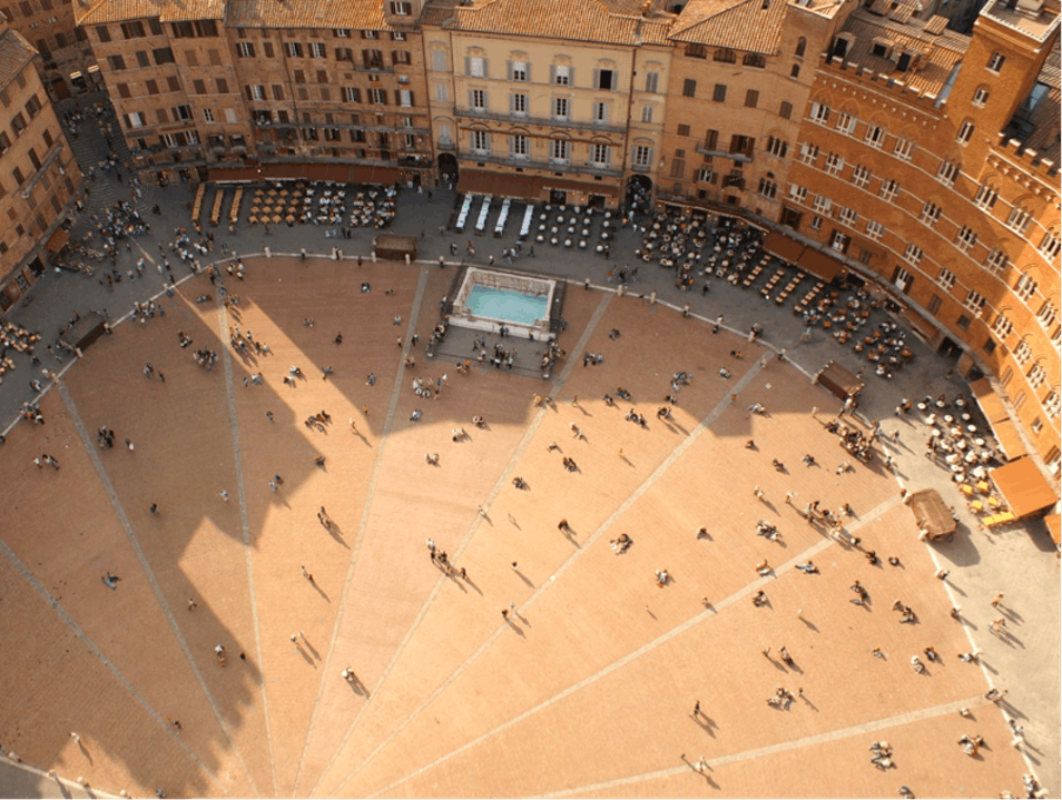 An Aerial View of Siena's Iconic Piazza del Campo Rome  Italy