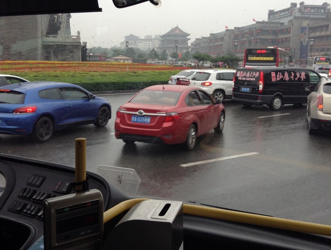 Taking the Bus in Xi'an