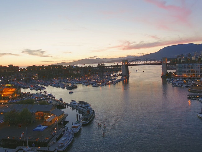 City Views From Vancouver's Granville Bridge