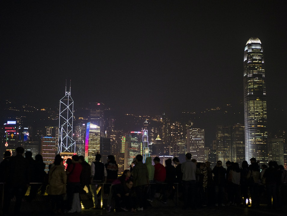 Lightgazing on a Clear Night Tsim Sha Tsui  Hong Kong