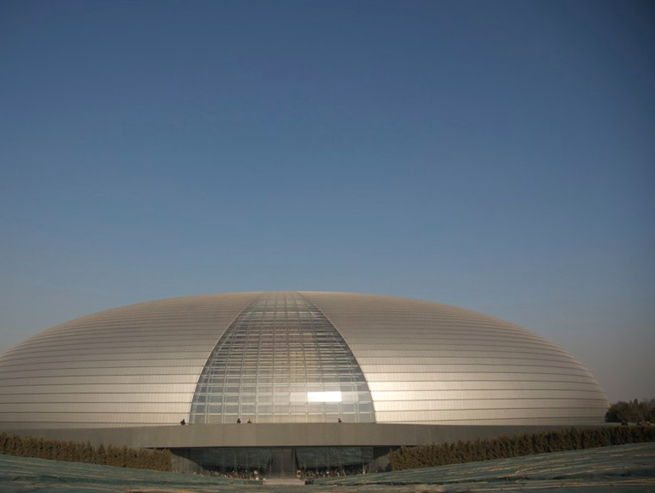 "The National Grand Theatre ""The Egg"" by French Architect Paul Andreu Beijing  China"