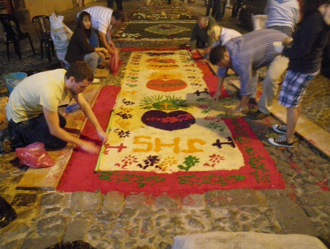The floral carpets of Semana Santa