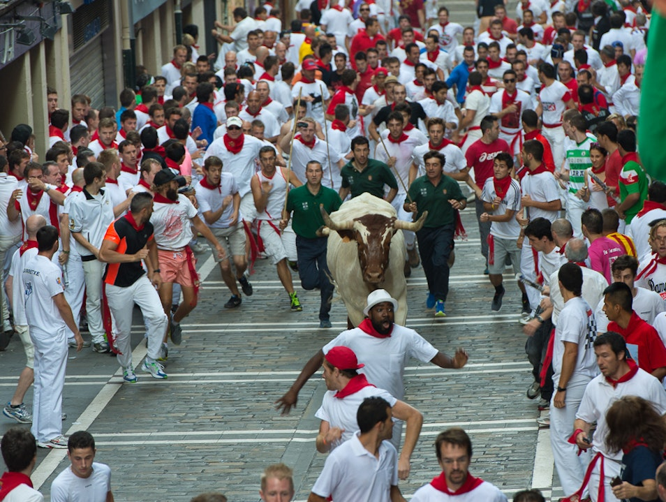 Fiesta de San Fermin: The Running of the Bulls Pamplona  Spain
