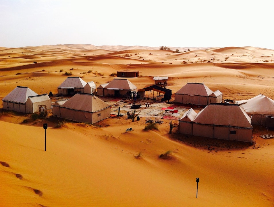 Night stay in Desert Luxury Camp in Erg Chebbi  Merzouga  Morocco