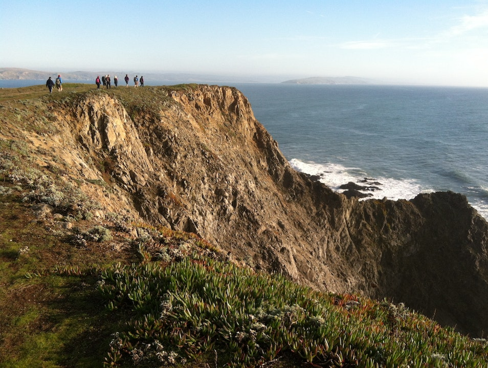Hiking on the rugged coast on a beautiful January day Sebastopol California United States