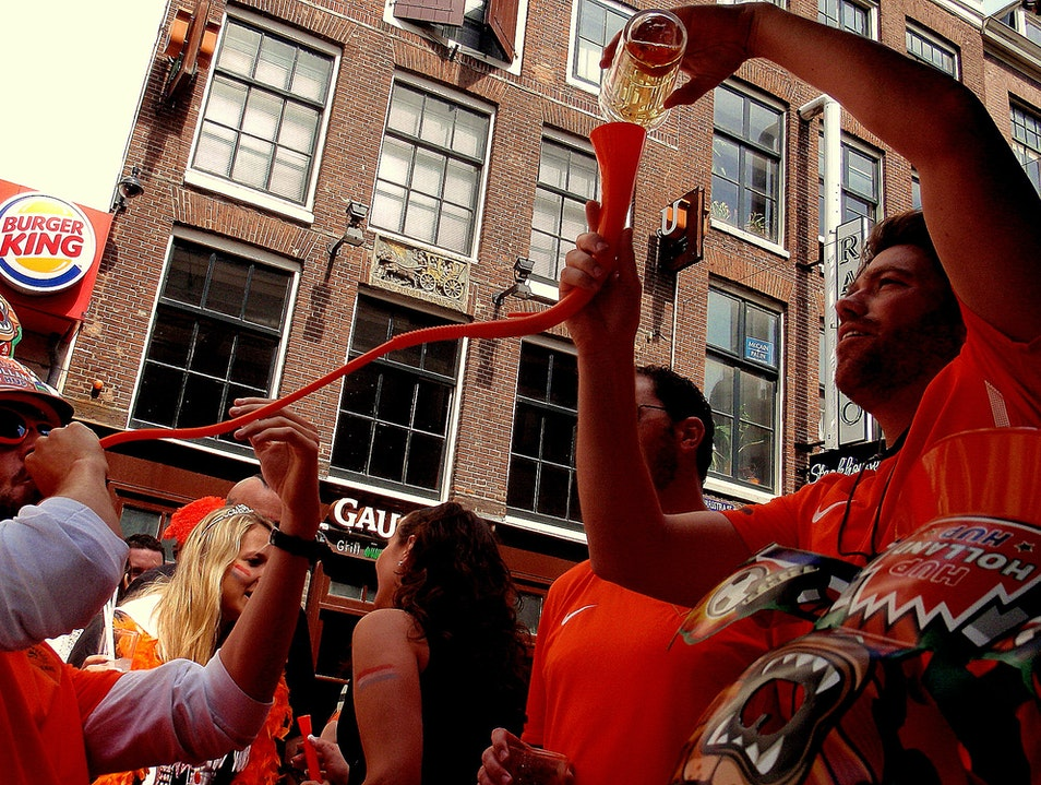 Drinking to the King! Amsterdam  The Netherlands