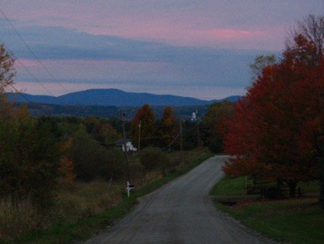 Vermont autumn sunset