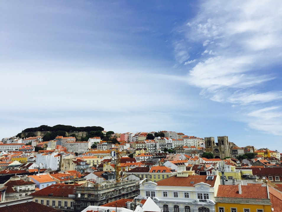 Views from the Arch of Rua Augusta Lisboa  Portugal