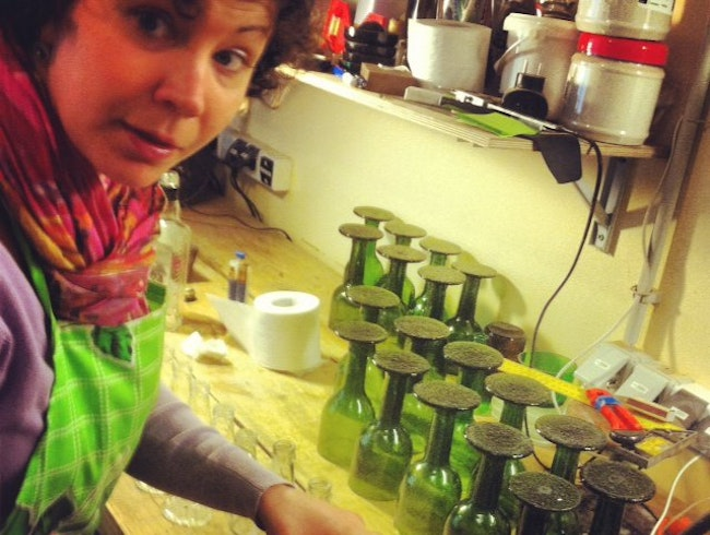 Recycle glass a new way at Buteljons