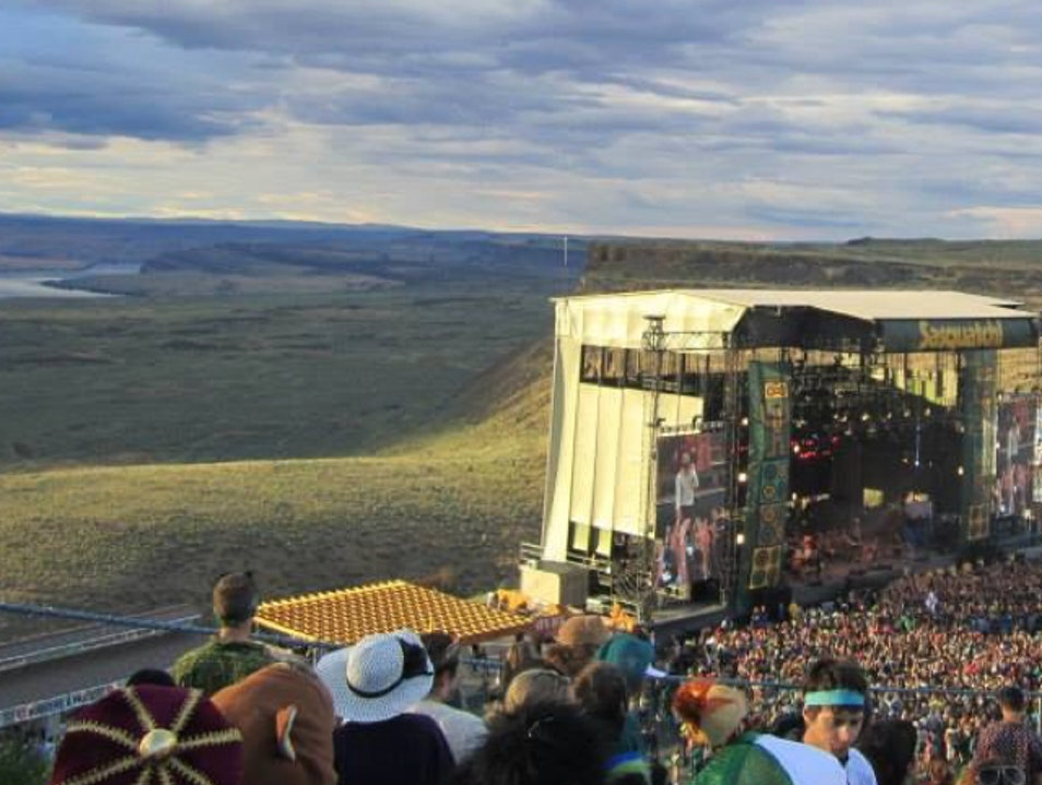 The Gorgeous Gorge Amphitheatre  Quincy Washington United States