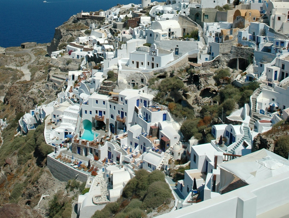 Town of Oia Oia  Greece