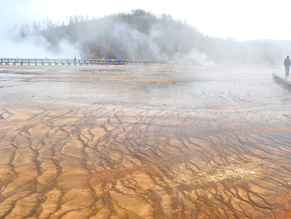 Hot Springs near Grand Prismatic Yellowstone National Park Wyoming United States