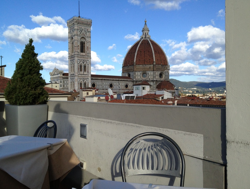 Terrace on top of the world Florence  Italy