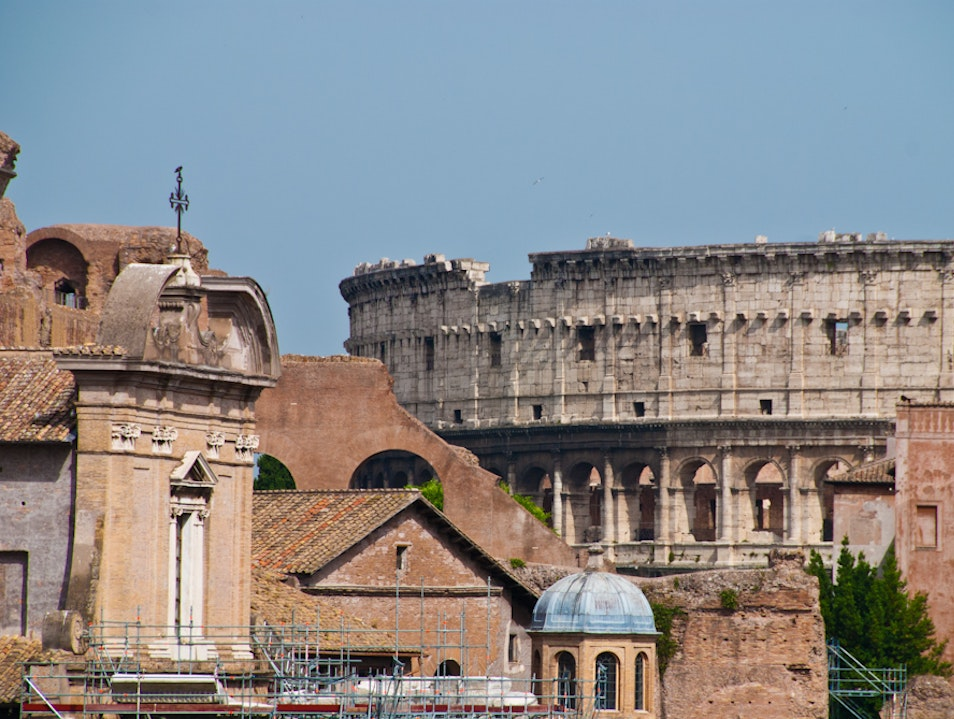 The Colosseum as Seen from the Forum Rome  Italy