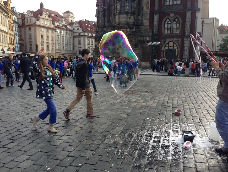 Symphony of Giant Bubbles Prague  Czech Republic