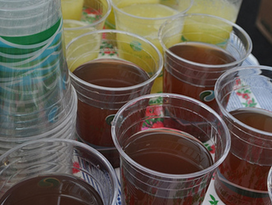CATCH: Agua Fresca at Primavera's Farmer's Market Stand San Francisco California United States