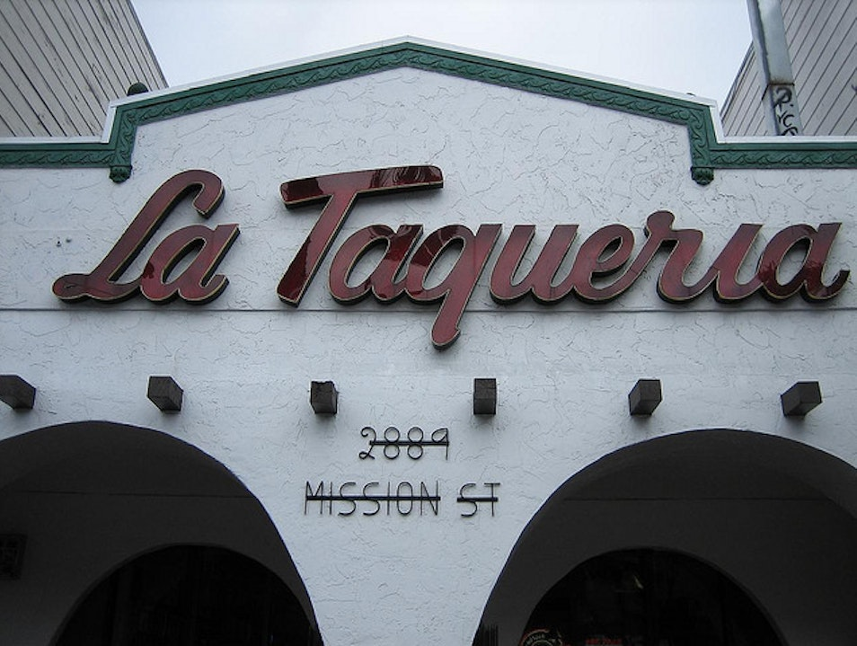 Grab a Burrito at La Taqueria in the Mission San Francisco California United States