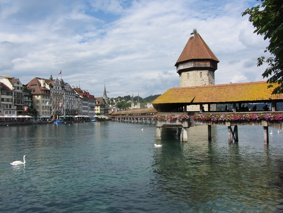 Kapellbrücke Bridge Lucerne  Switzerland