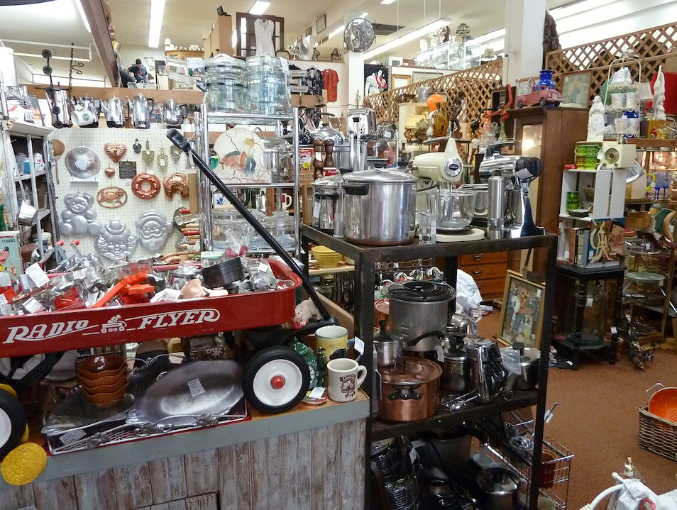 Old-Time Treasures at the Antique Mall Seattle Washington United States
